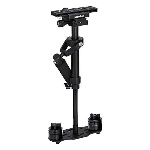 Koolertron Kamera Stabilisator, Handvideokamera Stabilisator Kamera Schwebestativ mit Schnellwechselplatte 1/4'Schraube für Kamera Video DV DSLR Nikon Canon, Sony, Panasonic bis 1.5kg(Schwarz)