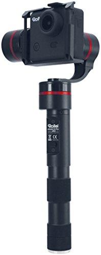 Rollei eGimbal G4 Plus - 3-Achsen Universal Steadycam für alle Actioncams mit einer Höhe von 33 - 51 mm und LCD BacPac - Stabilisierte Freihandaufnahmen - Geräusch- und bürstenlose Motoren