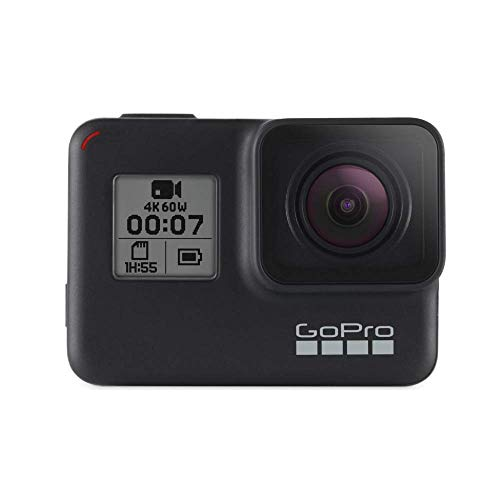GoPro HERO7 Schwarz - wasserdichte digitale Actionkamera mit Touchscreen, 4K-HD-Videos, 12-MP-Fotos, Livestreaming, Stabilisierung
