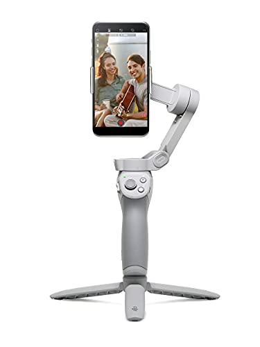 DJI OM 4 - Handgeführter Smartphone-Gimbal mit Stabilisierung auf 3 Achsen inkl. Griff, Stativ. Ideal für Vlogging, YouTube, Live-Video und Handy-Stabilisierung. Kompatibel mit iPhone und Android