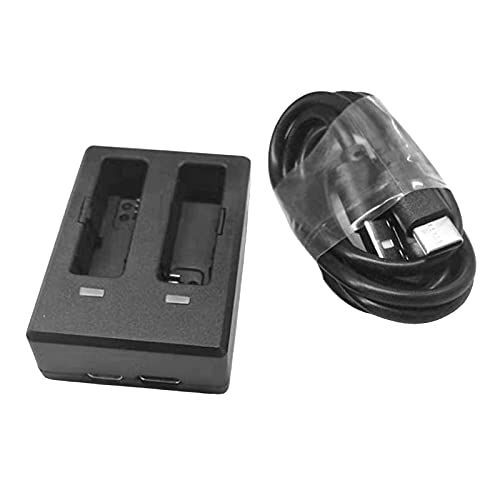 F Fityle USB Ladegerät Reise USB Charging Charger für Zwei Akku, geeignet für SJCAM SJ8 Pro / SJ8 Plus / SJ8 Air