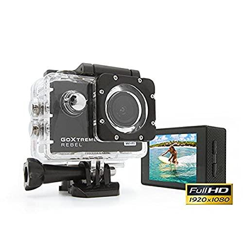 GoXtreme 'Rebel' HD Action Cam mit Webcam-Funktion, 140° Weitwinkel, WiFi, 30 m wasserfest