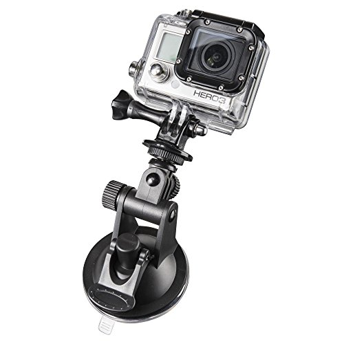 Mantona Saugnapf Halterung Mini (mit 1/4 Zoll Gewinde und GoPro Anschluss, geeignet für GoPro Hero 6 5 4 3+ 3 2 1, Session und andere kompatible Action Cams, Leichte Digital, Kompaktkameras)