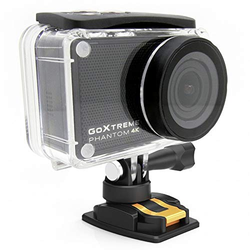 Easypix GoXtreme 'Phantom' 4K Action Cam mit Webcam-Funktion, 170째 Weitwinkel, WiFi, Bluetooth, 40 m wasserfest, 20155
