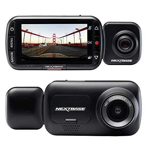 Nextbase 222x Dashcam Auto Vorne Hinten Full 1080p/30fps HD Aufzeichnung - 140° + 140° Weitwinkel GSensor Parküberwachung Click & GO Mini Mount