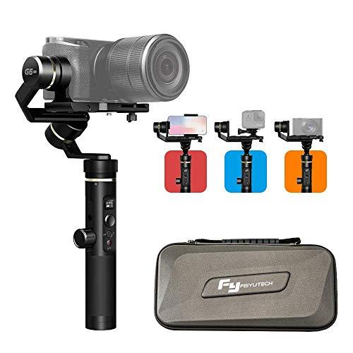 [Offiziell] FeiyuTech G6 Plus 3-in-1 3-Achsen Stabilisator Gimbal für ActionCam/spiegellose Kamera/Smartphone, Handheld Stabilizer für Sony a6400 RX100, Gopro Hero