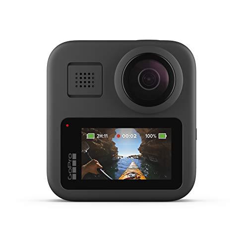 GoPro Max - wasserdichte 360-Grad-Digitalkamera mit unzerbrechlicher Stabilisierung, Touchscreen und Sprachsteuerung - Live-HD-Streaming, Black