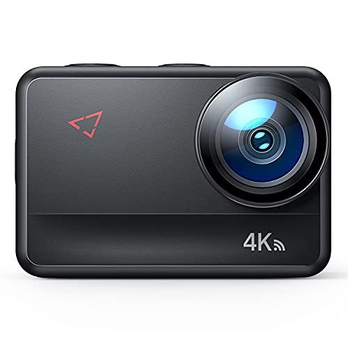 4K/60FPS Action Cam AC940, 5M Bare Machine Wasserdicht Unterwasserkamera 20MP Touchscreen WiFi Vlog Helmkamera mit EIS Fernbedienung, 2x1350mAh Akkus und Zubehör Kit.
