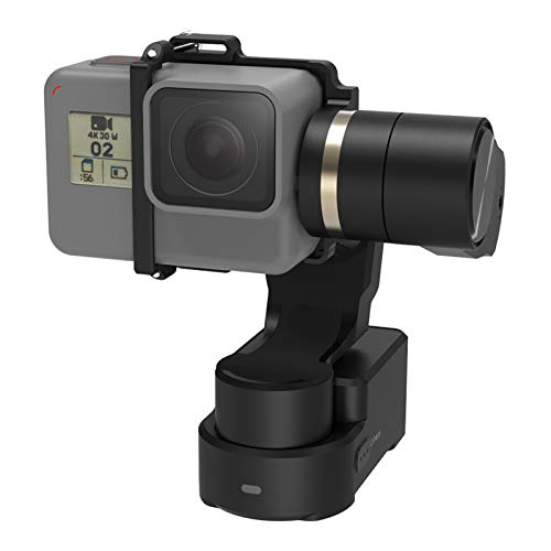 Feiyutech WG2X 3-Axis Wearable Waterproof Gimbal for GoPro Hero 7 Hero 6 Hero 5/GoPro Hero4/Session AEE SJCam and Other Similar-Sized Action Cameras with Extension Rod,Tripod and Carry Box