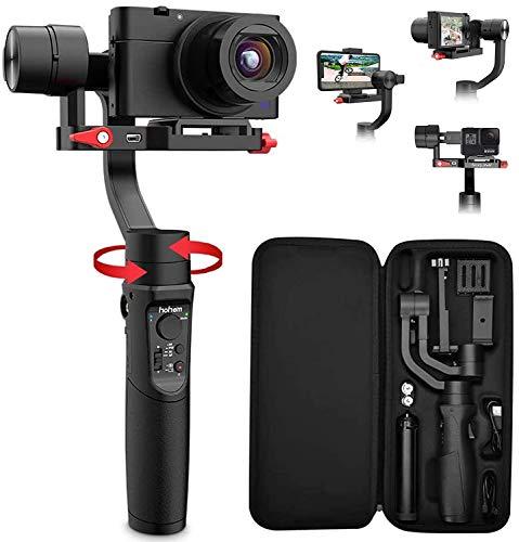 Hohem iSteady Multi 3 Achsen Multifunktions Gimbal Handheld stabilisator für Gopro Hero 7/6/5/4/3, Digital kameras der Sony RX100 Serie, für iPhone oder Android Telefone
