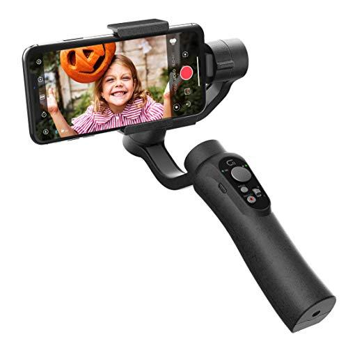 CINEPEER C11 Smartphone Handy Gimbal, integrierte Zoomsteuerung, 3-Achsen-Hand-Gimbal-Stabilisator für iPhone X/Xs, Samsung, Android, Vlog, Smooth Live-Videoaufnahme