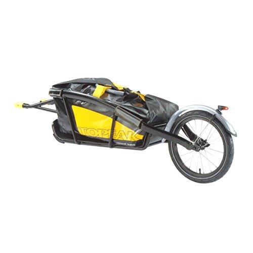 Topeak Fahrradanhänger Journey Trailer und DryBag, Black/Yellow, 157 x 44.7 x 42 cm, 65.3 L