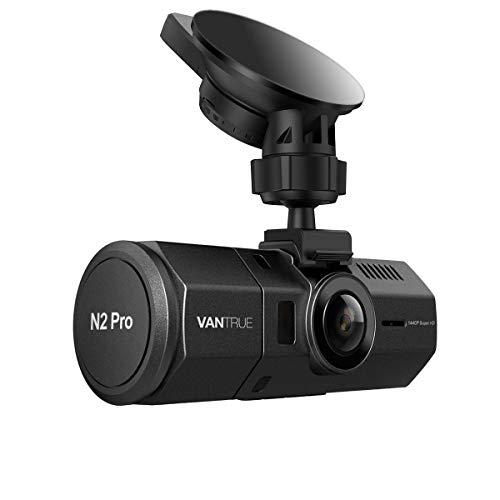 Vantrue N2 Pro Dual Dashcam Infrarot Nachtsicht Dual 1080P Full HD Auto Kamera Vorne Hinten, Sony Sensor Car Camera (2560x 1440P vorne), 1.5' 310° Parküberwachung Dash Cam G Sensor Unterstützt 256GB