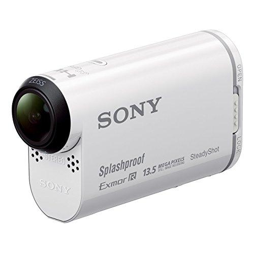 Sony HDR-AS100VB Bike Mount Kit - Ultra-kompakter Camcorder (Full HD, Exmor R CMOS Sensor, lichtstarke Carl Zeiss Tessar Optik, Bildstabilisator, GPS, WiFi/NFC Funktion), weiss