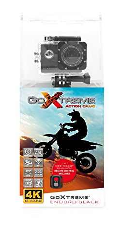 GoXtreme Enduro Black Action Kamera (4K, Real 2, 7K@30fps, FullHD bis 60fps, inkl. Fernbedienung, 2'/5cm Display, WiFi) Schwarz