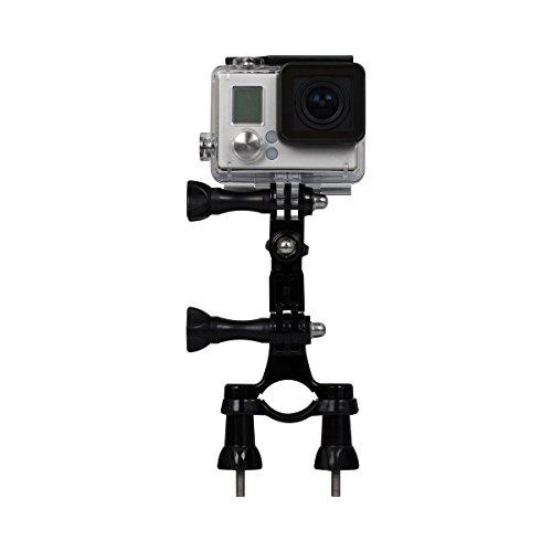 Rollei Fahrradhalterung für Rollei Actioncam 200 / 300 / 400 und 500 Serie und GoPro Hero Modelle - Schwarz