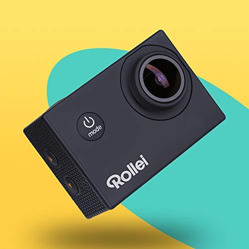 Rollei Actioncam Fun - WiFi Actionkamera mit 4k Video-Auflösung und Weitwinkelobjektiv, 2' LCD-Display, Loop-, Zeitraffer-, Slowmotion-Funktion, 20 MP Kamera, bis 40 m wasserdicht, Schwarz