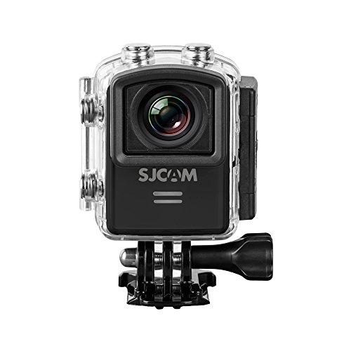 SJCAM SJ-M20 Deutsche Version wasserdichte Sport Actionkamera (3,81 cm (1,5 Zoll), 4K/2K, WiFi, 30m, 16MP, Gyro Anti-Shake Stabilisierung, 16 Zubehörteile) schwarz