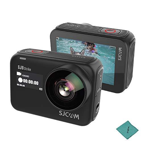 SJCAM SJ9 Strike 4K 60fps WiFi-Sport-Action-Kamera 2,33 Zoll IPS-Touchscreen 10M Körper wasserdicht 170 ° Weitwinkel Anti-Shake mit Lithium-Batterie
