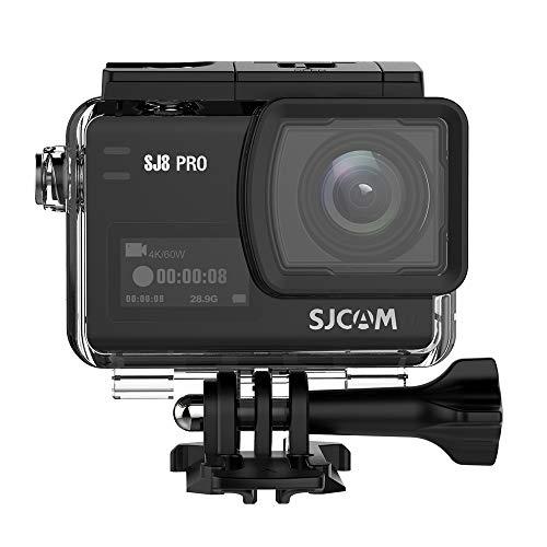 SJCAM SJ8 Pro Action Kamera 4K / 60FPS WiFi Sports Cam 2,3 Zoll Touchscreen mit 170 ° Weitwinkelobjektiv EIS 8X Digitalzoom wasserdichte Kamera Schwarz*