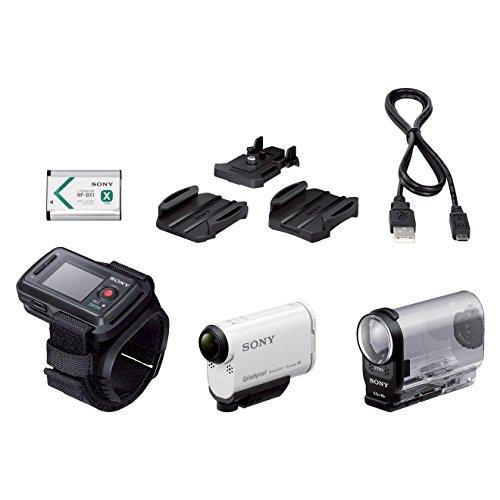 Sony HDR-AS200VR Full HD Action Cam (Live-View Remote Kit, ZEISS Tessar Objektiv mit 170 Ultra-Weitwinkel, Vollständige Sensorauslesungohne Pixel Binning) weiß