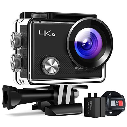 APEMAN Action Cam A77, 4K WiFi 16MP Unterwasserkamera Digitale wasserdichte 30M Helmkamera (2.4G Fernbedienung und kostenlose Zubehör)*