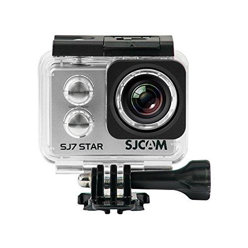 'SJCAM SJ7Star–Sportkamera (4K, WLAN, 12MP, Touchscreen 2.0, Superview, wasserdicht 30m) Silber