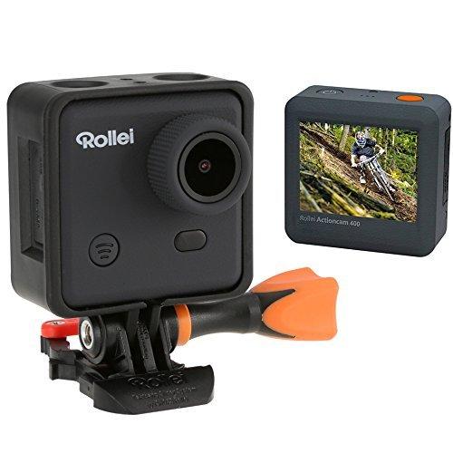 Rollei Actioncam 400 mit Handgelenk-Fernbedienung (3 Megapixel, Full HD Video, 1080p, WiFi Funktion) inkl. Unterwassergehäuse schwarz