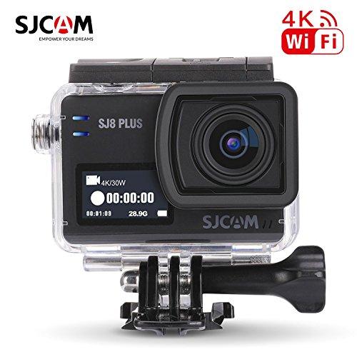 16GB TF Karte + SJCAM SJ8 PLUS Wifi Sport Action Video Kamera, HD 4K / 30FPS 12MP 170 ° Weitwinkelobjektiv 2,33 Zoll Touchscreen Sport Action Cam Audio Recorder