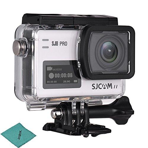 SJCAM SJ8 Pro Action Kamera 4K / 60FPS WiFi Sports Cam 2,3 Zoll Touchscreen mit 170 ° Weitwinkelobjektiv EIS 8X Digitalzoom wasserdichte Kamera Schwarz