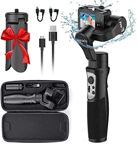 Hohem iSteady Pro3 Gimbal StabilizerSplash-Proof 3-Axis Handheld Gimbal Stabilizer for Action Cameras GoPro Hero 8/7/6/5/4/3 DJI OSMO Action Insta360 One R Sony RX0 YI Cam, GoPro Control